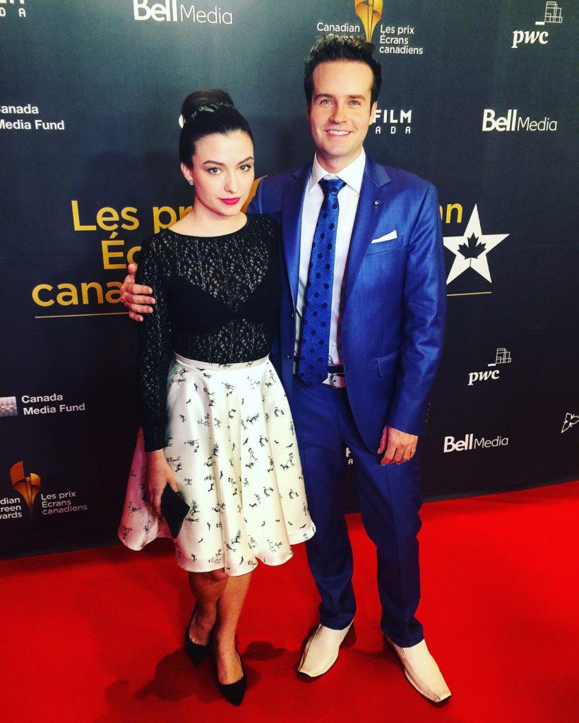 Brandon Ludwig & Natasha Negovanlis red carpet Academy screen week