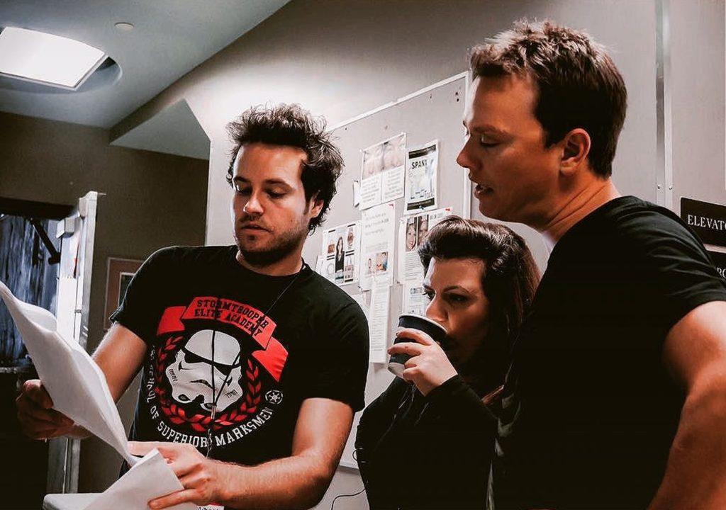 Brandon Ludwig directing Go for Gloria with Linda Aleksanyan and Trevor Boris
